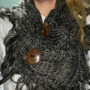 Accessories - Stylish neck infinity scarf/W bold buttons